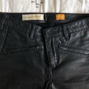 Pilcro black vegan leather leggings